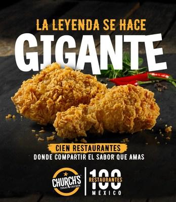 Church's Texas Chicken inaugura su local número 100 en México. (PRNewsfoto/Church's Texas Chicken)