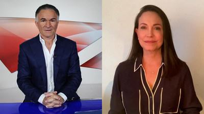 Dionisio Gutiérrez conversa con María Corina Machado