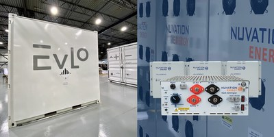 An EVLO energy storage system and a Nuvation battery management system.