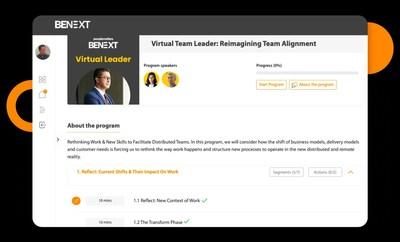 BeNext Certification Landing Page